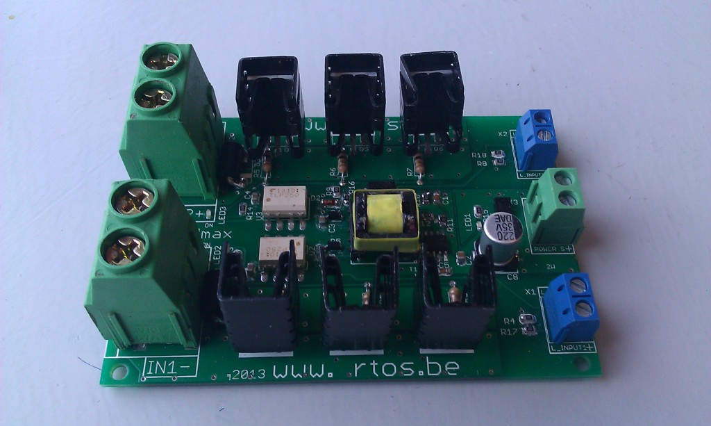 high-side mosfet switching board